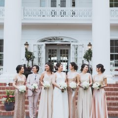 Neutral Bridesmaids Dresses
