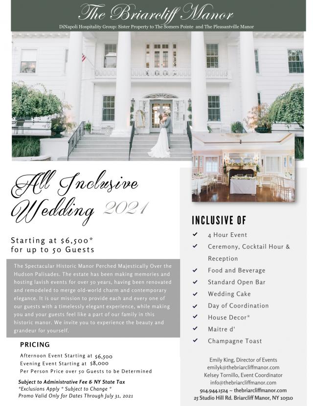 All Inclusive Briarcliff Manor Wedding